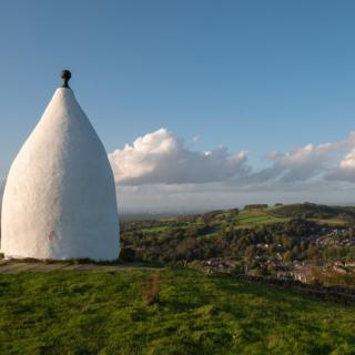 White Nancy overlooking Bollington, near Macclesfield in Cheshire