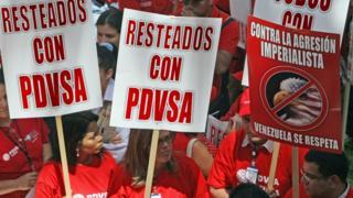 Foto de archivo de manifestación por PDVSA.