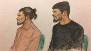 Naa'imur Zakariyah Rahman and Mohammad Imran appeared at the Old Bailey on Monday for the first day of the trial