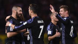 Karim Benzema dans le temps additionnel de la première mi-temps et Cristiano Ronaldo dans celui de la deuxième mi-temps, ont inscrit les buts madrilènes.