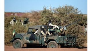 Un véhicule des Forces Armées Maliennes