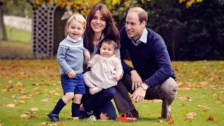 The Duke and Duchess of Cambridge with their children, Prince George and Princess Charlotte