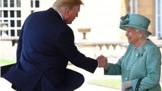 ملكة بريطاينا وترامب