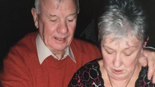 Christine McCartney and her late husband on their 50th wedding anniversary