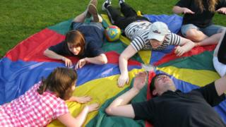 staff and children at the Special Adventure Playground