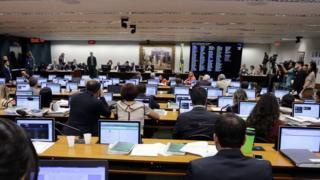 Sessão da Comissão de Constituição de Justiça da Câmara