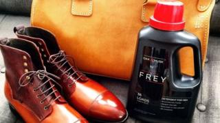 Frey detergent with shoes and bag