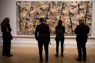 Jackson Pollock's Blue Poles is currently on loan to the Royal Academy of Arts in London
