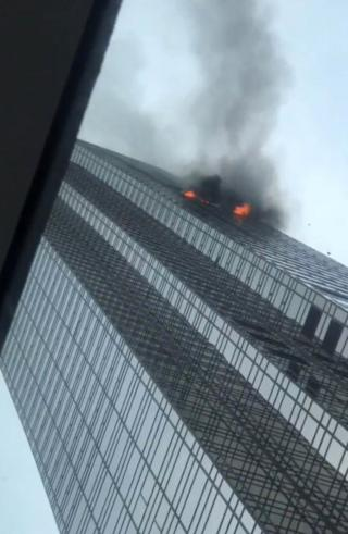 A blaze at Trump Tower in New York