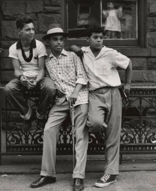 Three young men in New York City