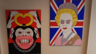 A pair of paintings by loyalist Michael Stone