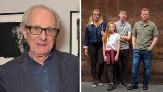 Ken Loach and the cast of Sorry We Missed You