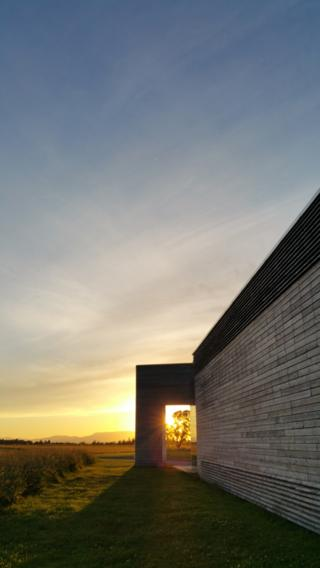 Sunset over Culloden visitor centre