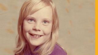 Paula Dakin as a child