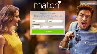 Screengrab of UK Match.com website
