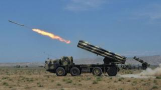 Azerbaijan artillery, file pic 29 May 2017