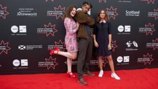 Georgie Henley, Jordan Stephens and Ella Purnell