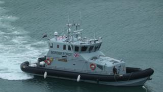 Border Force vessel in Channel (file image)