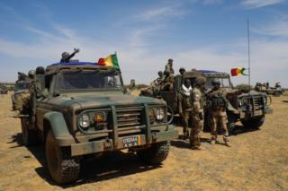Des soldats de l'armée malienne