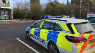 Police at Colmworth Business Park