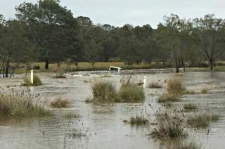 An Australian man driving a ute on Wednesday was washed into a dam at in western Victoria