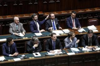 İtalya Parlamentosu'nun bir oturumu