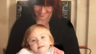 Sharon Morris with daughter Olivia as a child