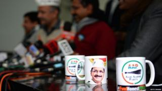 JANUARY 2: National Convener of the Aam Aadmi Party Arvind Kejriwal with party leader Manish Sisodia during the launch of 'I Fund Honest Party' campaign