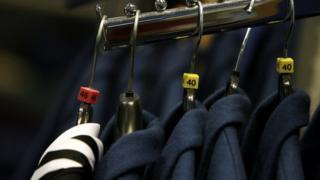 blazers on rack