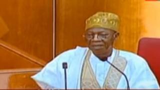 Lai Mohammed during im screening for di Senate