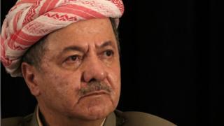 Iraqi Kurdish leader Massud Barzani speaks during a press conference on September 24, 2017