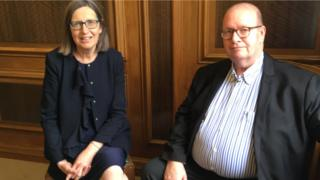 Clare Curran and Dave Hill