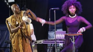 Malian hip hop artist Inna Modja performed at the Womad festival in the UK