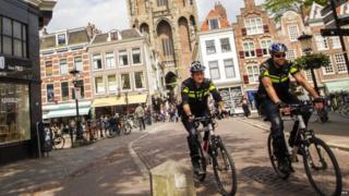 Dutch police in Utrecht 24 June 2015