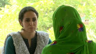 Aliya talking to victim