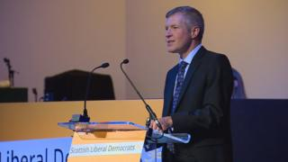 Wille Rennie at Scottish Liberal Democrats conference