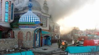 Пожар в Храме всех религий