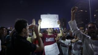 متظاهرون في وسط القاهرة