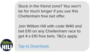 Banned William Hill ad