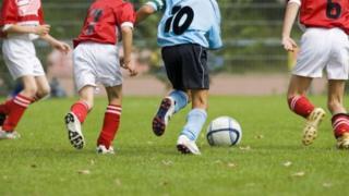 Footballers legs