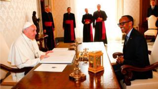 البابا فرانسيس يستقبل الرئيس االرواندي، بول كاغامي، في الفاتيكان، يوم الاثنين 20 مارس / آذار 2017