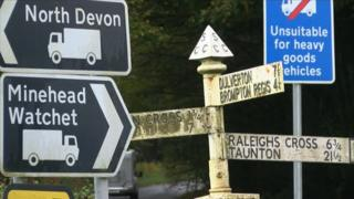 Old and new signs in Somerset