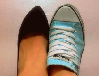 Zapato y zapatilla