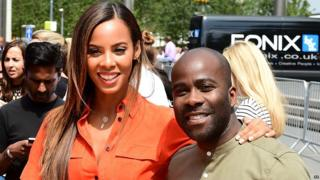 Rochelle Humes and Melvin Odoom at the London auditions