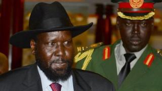 Madaxweynaha South Sudan Salva Kiir