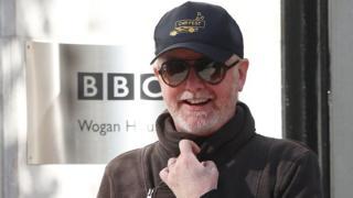 Chris Evans outside BBC Wogan House