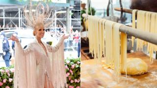 Celine Dion and some spaghetti