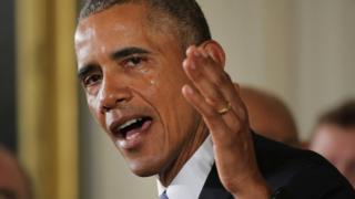 President Barack Obama tears up during gun control press conference