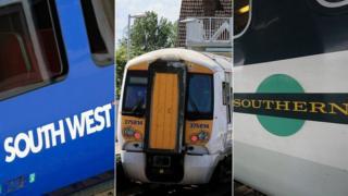 South West Train, Southeastern train, Southern train