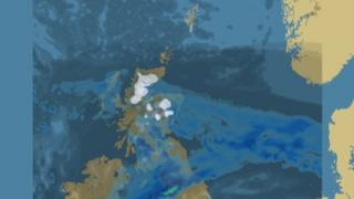 Weather map for Boxing Day